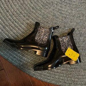 Sparkle lemon Jelly rain boots
